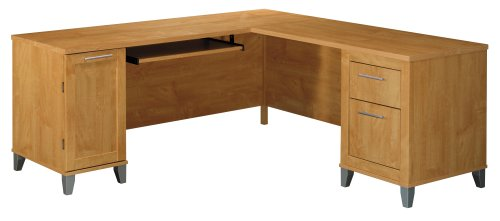 Bush Furniture Somerset L-Desk 71-Inch-box 1 of 2, Maple Cross
