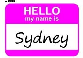Amazon.com: Hello My Name Is Sydney - Window Bumper Laptop Sticker