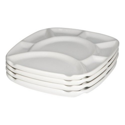 Square Fondue Plates Set of 4 by Trudeau