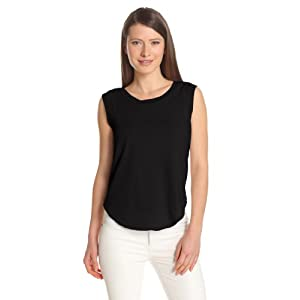 Alternative Women's Cap Sleeve Crew, Black, Large