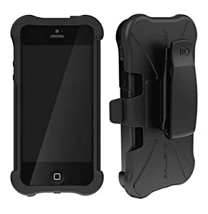 Ballistic Sg Maxx Series Case for iPhone 5 - 1 - Black and Black 1 Pack - Retail Packaging