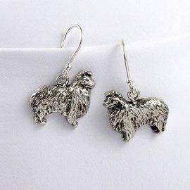 Sheltie Sterling Silver Earrings