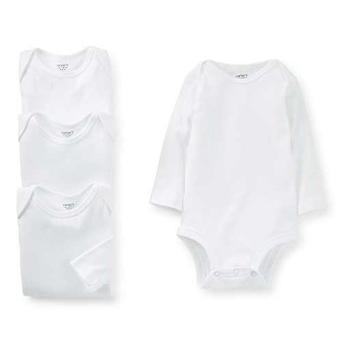 carters-unisex-baby-4-pack-long-sleeve-bodysuits-white-6m