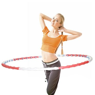 "3gHoop - Alpha Hoop Level 1 Anion Massage Fitness Weighted Hula Hoop 41"" (Made in Korea)"