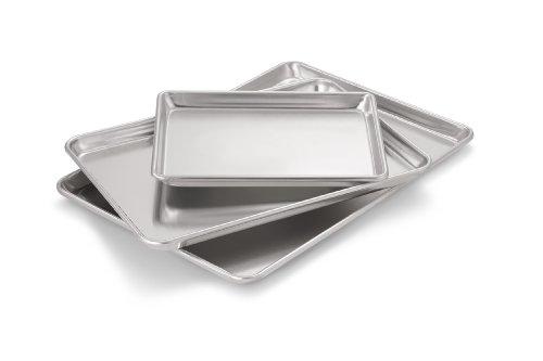 Artisan 3-Piece Professional Grade Baking Sheet Set with Quarter Size, Two Thirds Size, Half Size
