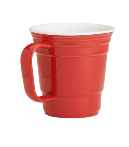 Red Cup Living Reusable Coffee Mug, 12-Ounce, Red