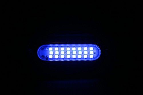 "2 New 3.5"" Blue W/ 316Ss Cover 24 Led Underwater Waterproof Pontoon Boat Transom 12V Lights"
