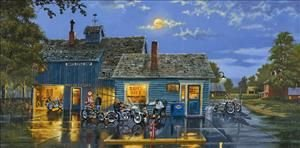 Dave Barnhouse Motorcycle print-SAMS CAFE