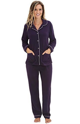 Del Rossa  Button Up Fleece Pajama Set