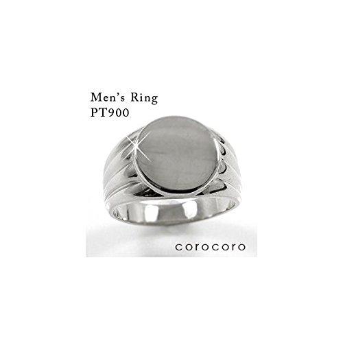 印台シンプルPT900プラチナリング指輪印台メンズリング