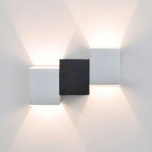 Lightinthebox Warm White 2W Modern Led Wall Light Wall Sconces With Black White Cubic Body Up Down Ray Of Light, Bulb Included, Mini Style, Led