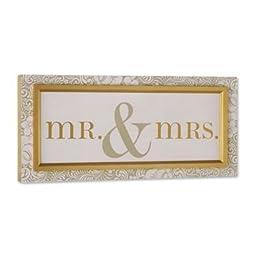 DEMDACO Mr. and Mrs. Wall Art by Creative Co-op