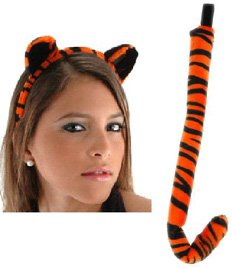 Plush Tiger Ears and Tail Set