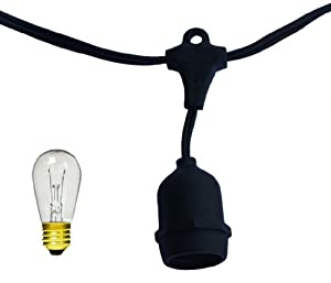 Table In A Bag SL4815 String Light, 48-Feet, 15 Light Socket with Bulb