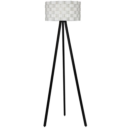 Living Room Lamps Tripod Floor Lamp Contemporary Lighting Modern Natural Wood