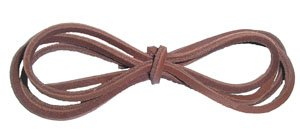 Brown leather laces for Deck Shoes 1 pair