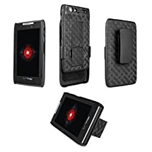 "Motorola Droid RAZR XT912 Shell Holster Combo W/ Kick-Stand ""Not for Droid RAZR MAXX"""