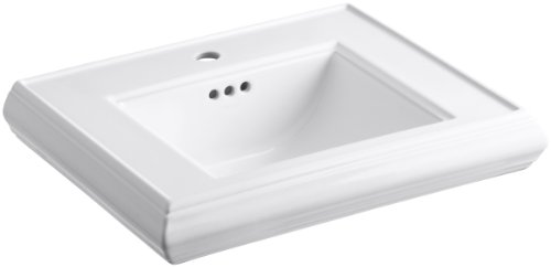 Purchase KOHLER K-2239-1-0 Memoirs Pedestal Bathroom Sink Basin with Single-Hole Faucet Drilling, Wh...