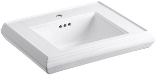 Purchase KOHLER K-2239-1-0 Memoirs Pedestal Bathroom Sink Basin with Single-Hole Faucet Drilling, Wh...
