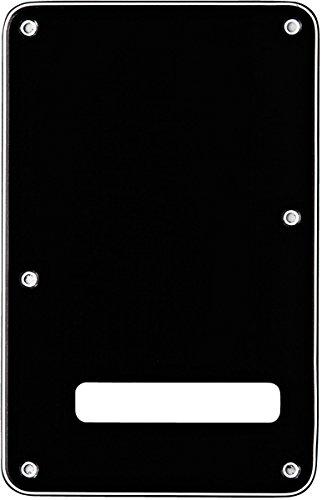 Fender Modern Backplate, Stratocaster - Black 3-Ply (Fender Pickguard Screws Black compare prices)