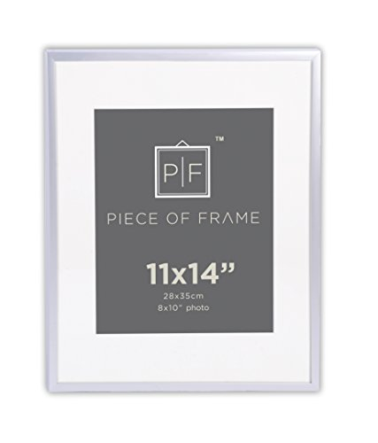 Golden State Art, 11x14 Aluminum Silver Photo Frame, with Ivory Color Mat for 8x10 Pictures, & Real Glass (Aluminum Pictures compare prices)
