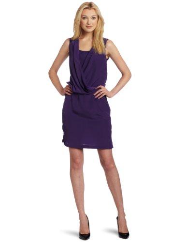 5f5cdc0f66 Cheap Gabby Skye Women s Silky Crepe sleeveless Blouson Dress Grape 8