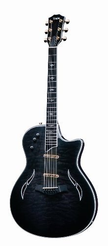 Taylor Guitars T5C1 Custom Maple Acoustic Electric Guitar, Transparent Black Edgeburst