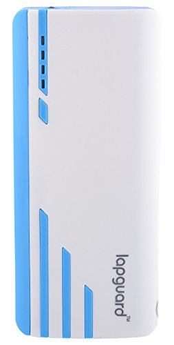 Lapguard Sailing-1530 Power Bank 10400 MAh Make In India Portable Charger Powerbank - White-Blue