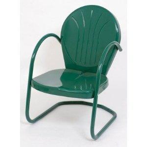Bonnevie Steel Tulip Chair Hunter Green