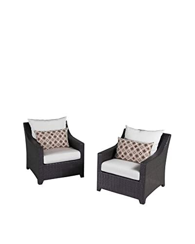RST Brands Deco Set of 2 Club Chairs, Cream