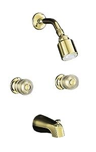 KOHLER K-T15201-7-PB Coralais Bath and Shower Faucet Trim, Vibrant Polished Brass