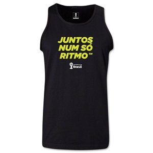 FIFA World Cup 2014 2014 FIFA World Cup Brazil(TM) All In One Rhythm Portuguese Men's Tank Top (Black)