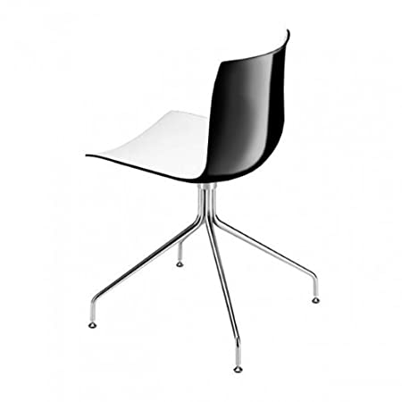 arper catifa 46 0257 stuhl mit sternfu zweifarbig wei. Black Bedroom Furniture Sets. Home Design Ideas