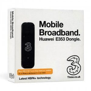UK United Kingdom PAYG DATA DONGLE on 3 THREE Network For IPAD Pre Loaded 1GB Data Allowance