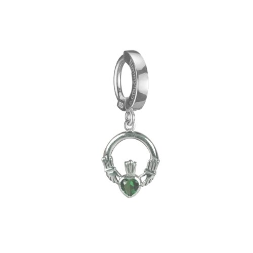 BODY JEWELRY THAT WILL CHANGE YOUR LIFE. TUMMYTOYS NAVEL BELLY RING SILVER CLADDAGH EMERALD CZ. Easy snap-in TummyToys Belly Button Rings The Highest Quality. Money Back, 100% guarantee.