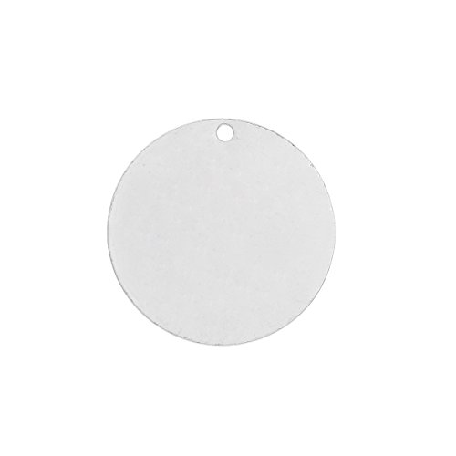50 Silver Plated Copper Round Circle Stamping Blank Tags for Metal Stamping 15mm or 5/8 Inch Diameter