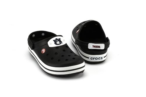 NCAA Auburn Tigers Banded Slip-On Clog Style Shoe By Crocs, Black, Men's 11 at Amazon.com