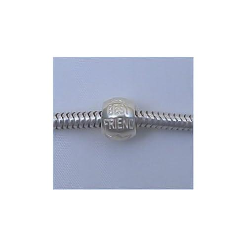 BEST FRIEND Sterling Silver Charm Bead for Troll Biagi Pandora