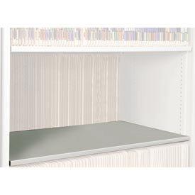 Rotary File Cabinet Components, Letter Depth Flat Shelf, Bone White