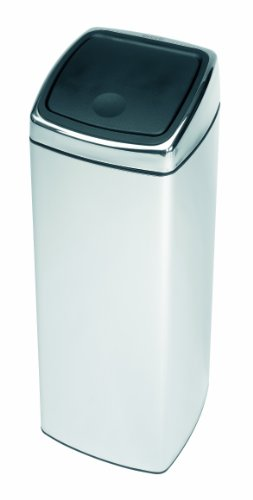 Brabantia Touch Bin, Rectangular, 25 Litre, Brilliant Steel