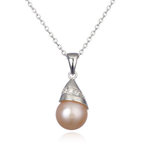 Peach Freshwater Pearl Pendant-18