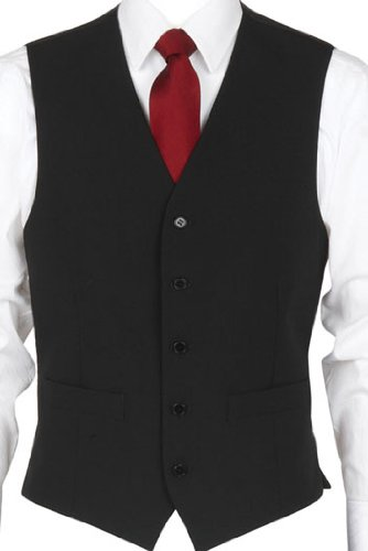 Scott 5 Button Waistcoat 38inch Chest, Black (20V5)