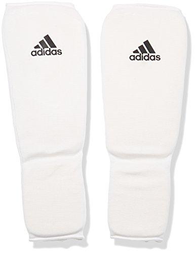 adidas Schienbeinschoner Kickboxen Shin-n-Step Pad, Weiß, M, adiBP08