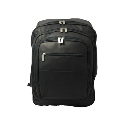 B000F24KHM David King & Co. Oversize Laptop Backpack, Black, One Size