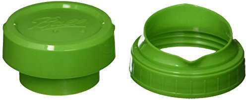 Ball Pour and Measure Cap with Wide Mouth Jars (1 Pack), Green (Ball Jar Plastic Cups compare prices)