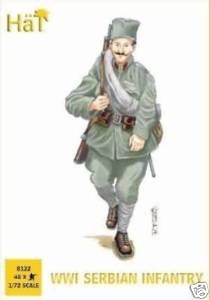 hat 1:72 serbian infantry scale model figures 8122