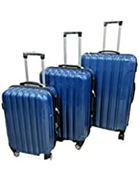Toyop ABS Polycarbonate Luggage Bag_Blue(Set Of 3)