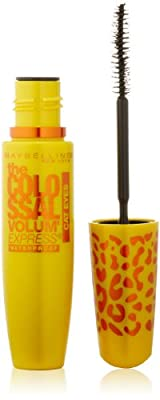 Maybelline New York Volume Express Colossal Cat Eyes Washable Mascara, Glam Black, 0.31 Fluid Ounce