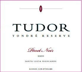 2009 Tudor Wines Tondre Reserve Santa Lucia Highland Pinot Noir 750 Ml
