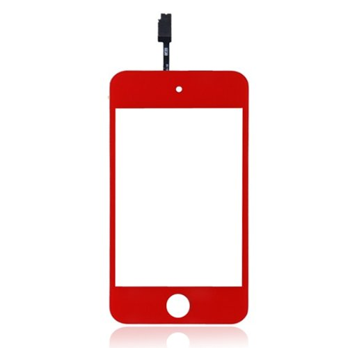 Generic Replacement Outer Touch Screen Digitizer With Flex Cable Ribbon For Ipod Touch 4Th Generation (Red) front-119157